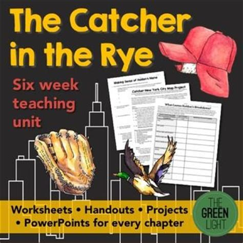 catcher in the rye chapter 17 themes pacing guide catcher and study guides on pinterest
