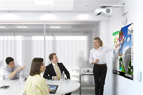 Projector Interactive Epson Eb 1430wi epson eb 1430wi interactive projector ultra with