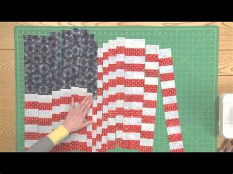 how to make a quilted flag pillowcase wall hanging part