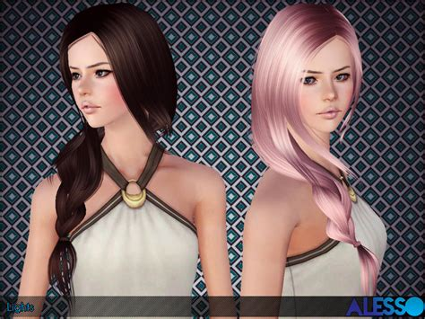 sims 3 hair braid tsr the sims resource over anto lights hair