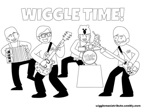 Wiggles Coloring Pages Printable Coloring Image Wiggles Pictures To Print