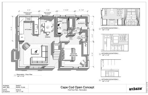 cape cod plans open floor arcbazar viewdesignerproject projectentire floor design designed by steve chomick aia