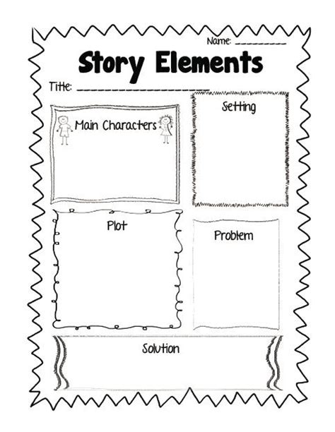 Printable Graphic Organizers For Story Elements common aligned reading response printables plus