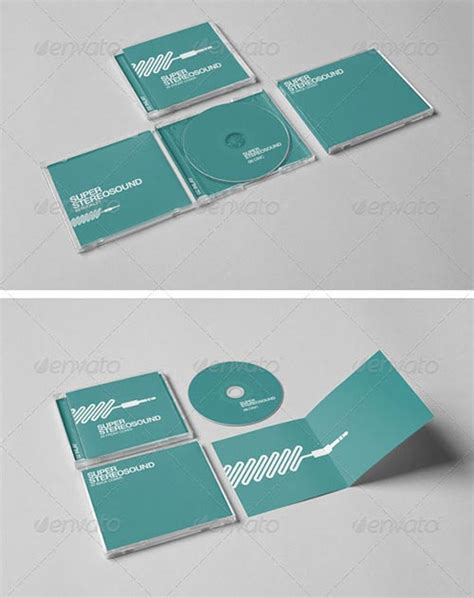 20 Psd Cd Dvd Cover Mockup Templates Cd Mockup Template