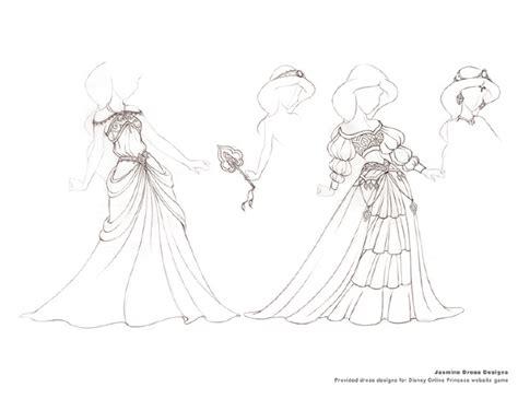 Disney Princess Stacey Aoyama Illustration How To Draw A Disney Princess Dress Free Coloring Sheets
