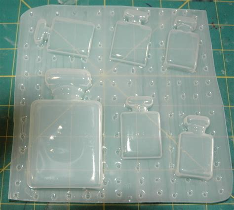 Cetakan Resin Botol Parfume Resin Mold Cetakan Clay Craft who envied perfume bottle palette mold plastic mold for resin plaster polymer