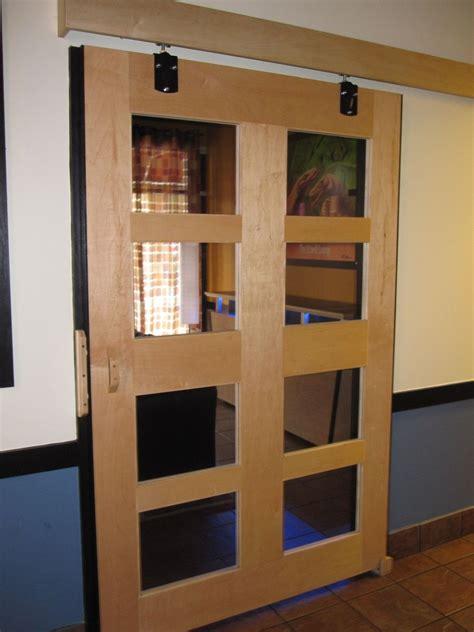 Sliding Glass Barn Doors Made Maple Sliding Barn Door By Boltonwoodworking Custommade