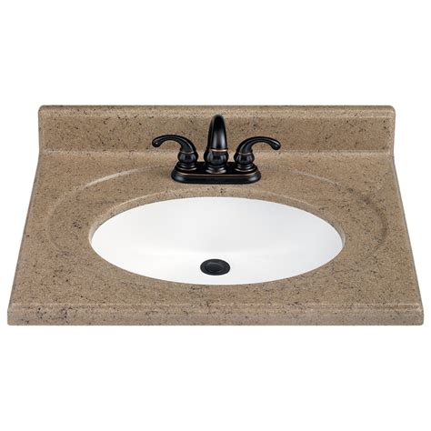Lowes Bathroom Sink Tops by Shop Estate By Rsi 25 Quot W X 22 Quot D Kona Vanity Top At Lowes