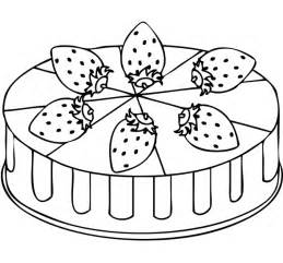 cake coloring pages strawberry cake coloring page coloring page
