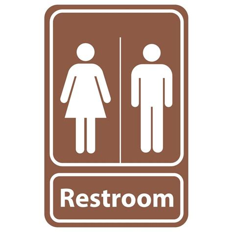 bathroom signs rectangular plastic restroom sign pse 0057 the home depot