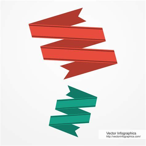 Flat Ribbon zigzag shape flat ribbons free vector image 76 vectorinfographics