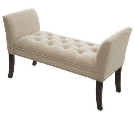 Tufted Accent Bench Home Reflections Inspired Tufted Accent Bench