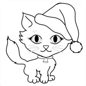 coloring pages christmas cats free free cat clip art image 0515 0912 1801 4020