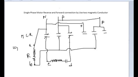 single phase motor forward wiring diagram gooddy org