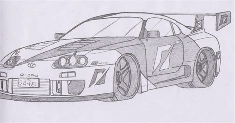 Toyota Supra Drawing How To Draw Supra