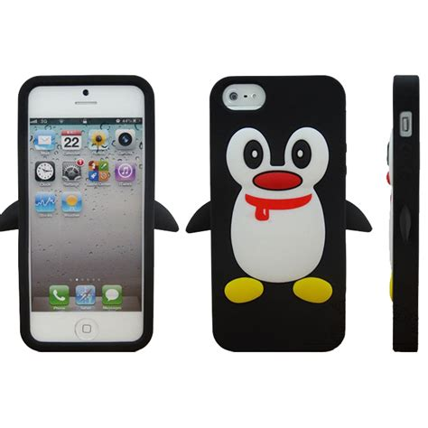 The 3d For Iphone 4 for iphone 4s 3d penguin silicone for
