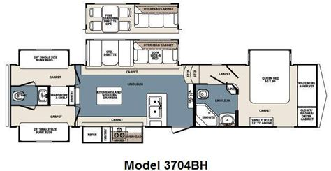 Bunkhouse Fifth Wheel Floor Plans | 5th wheel bunkhouse floor plans carpet vidalondon