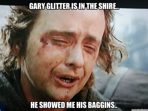 Glitter Meme - gary glitter is in the shire