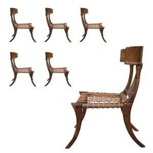klismos dining chairs– greige design
