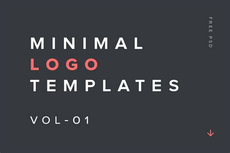 design resources minimal logo templates vol 01 free design resources