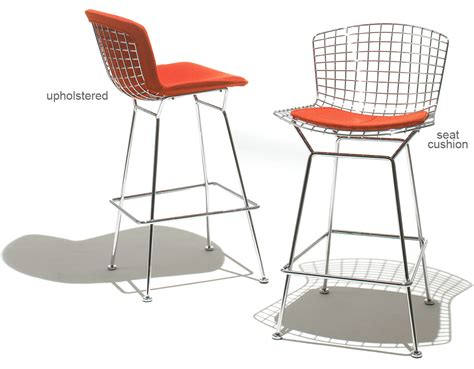 Seating Stool by Bertoia Stool With Seat Cushion Hivemodern