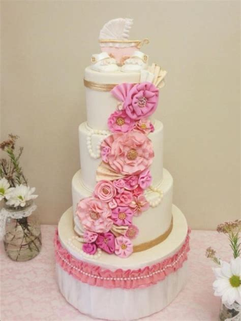 shabby chic baby shower cakes you to see shabby chic by kaylatrahan
