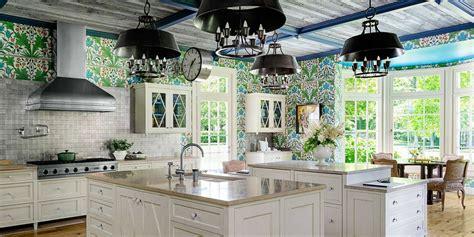 Vacation Home Design Trends by William Morris Wallpaper Kitchen Stephen Sills Kitchen