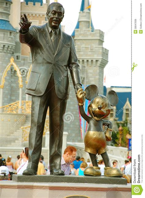 mickey and walt statue editorial stock image image 30647939