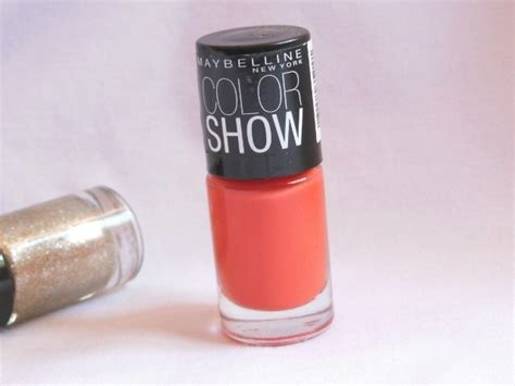 maybelline color show nail paint orange fix review notd indian fashion lifestyle