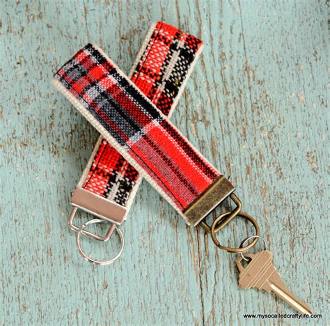 Handmade Sewing Crafts - handmade gifts 2014 diy vintage fabric and webbing key