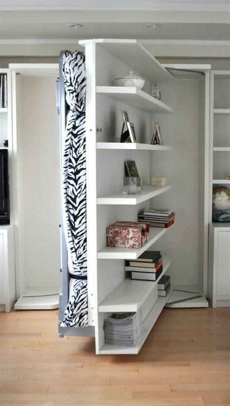 ideen für kleine wohnungen kleines schlafzimmer mit viel stauraum