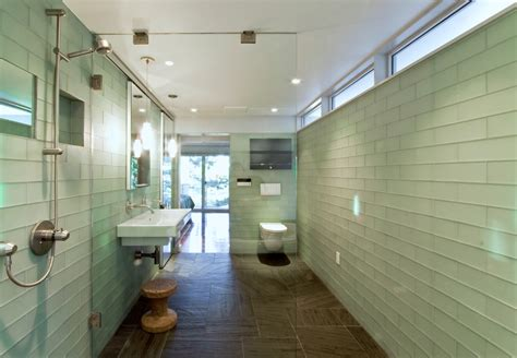 bathroom glass tiles bathroom glass tile bathroom contemporary with accent