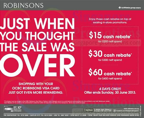 Robinsons May Gift Card - 27 jun ocbc robinsons visa card offers 187 robinsons great singapore sale promotion