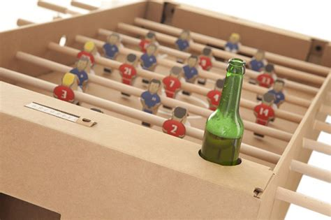 How To Make A Table Football Out Of Paper - cardboard foosball table the awesomer