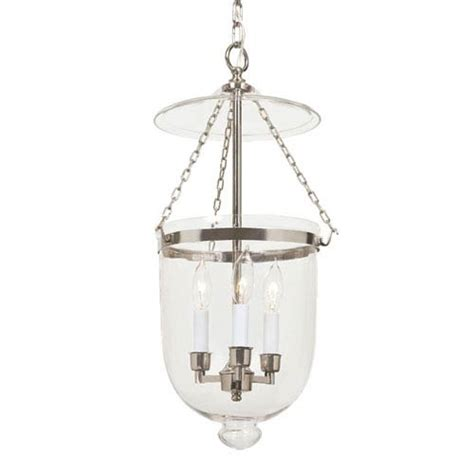 bell jar lantern chandelier polished nickel medium bell jar lantern with clear glass