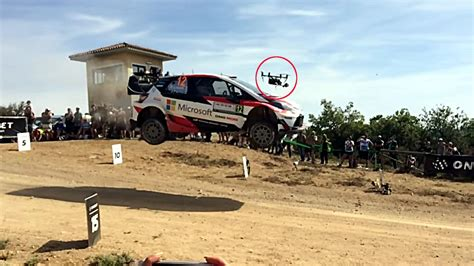 Fan Jumps Into Car by Mo Of Jumping Rally Car Slamming Into Drone