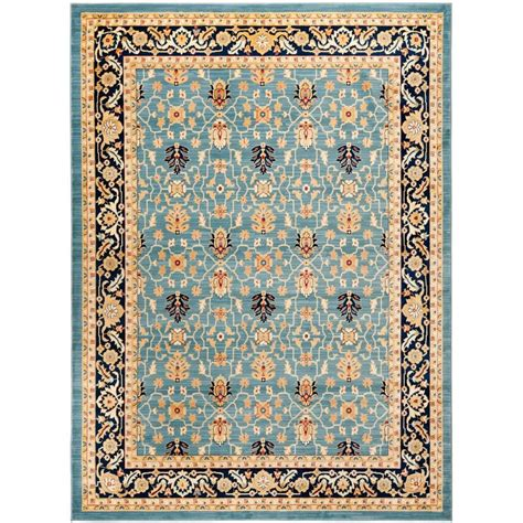 8 X 11 Area Rug Safavieh Light Blue Navy 8 Ft X 11 Ft Area Rug Aus1620 6070 8 The Home Depot