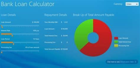 bank loan calculator simple emi calculator for windows 8 bank loan calculator