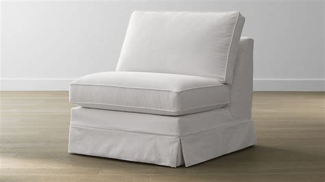 armless couch slipcover slipcover only for harborside armless chair petry snow
