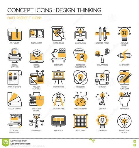 design thinking icon pixel pen stock image cartoondealer com 85565113