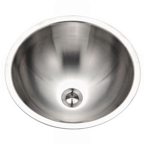 undermount stainless steel bathroom sink houzer hammerwerks baby round undermount copper lavatory