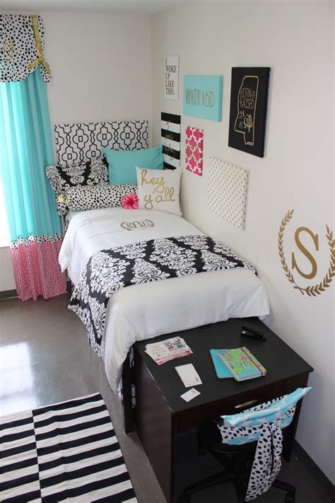 ole miss room black gold pink room