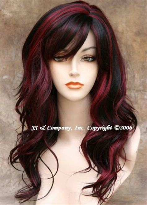 colors of streaks in hair for black women peekaboo red hair fun pinterest awesome my hair and