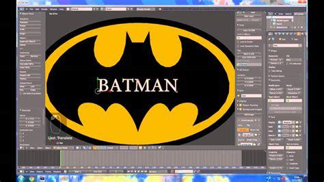 tutorial blender logo blender 2 64 tutorial batman logo using curves youtube