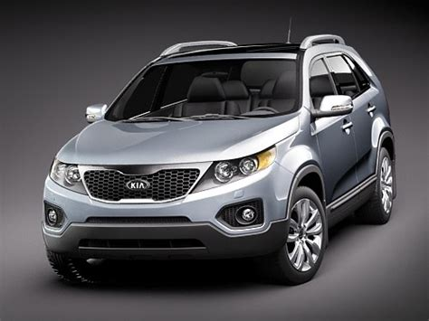 Kia Small Suv Models 3d Model Kia Sorento 2010 Suv