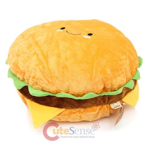 Hamburger Pillow large hamburger cushion food pillow 16 quot cheese burger bedding car cushion ebay