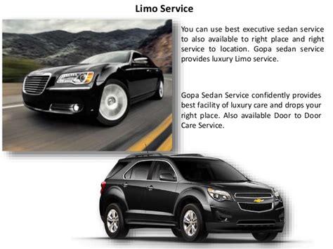 sedan service gopa sedan service door to door car service