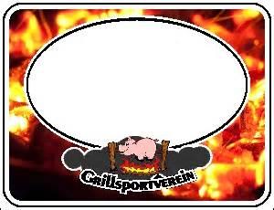 Etiketten Drucken Corel Draw by Etikett 60x46mm Mit Gsv Logo Und Glut Grillforum Und Bbq