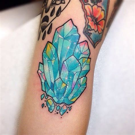 crystal tattoos best 25 ideas on