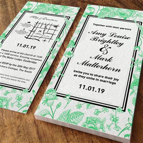 Dl Wedding Invite Templates by Dl Wedding Invitations Brunelone